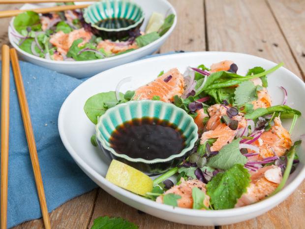 Rezept Für Lachs Tataki Salat Kitchengirls